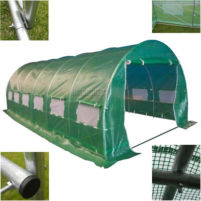 6 Section Galvanised Steel Frame Polytunnel Greenhouse Pollytunnel Poly 6m x 3m