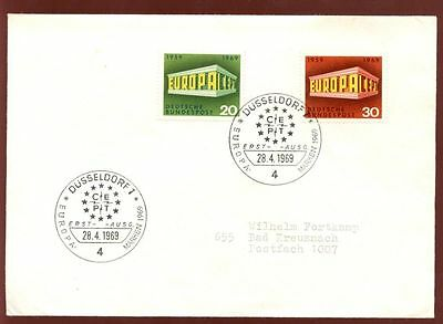 West Germany 1969 Europa FDC #C7991