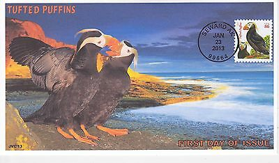 Jvc Cachets - 2013 Tufted Puffins Issue First Day Cover Fdc Topical L.e. #1