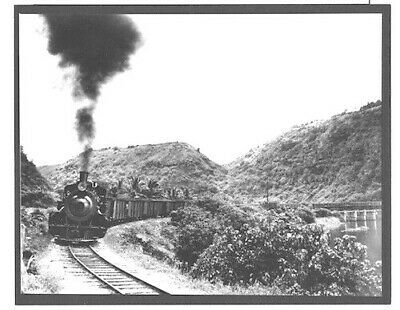 "Or&l Cane Train Waimea Bay Haleiwa 1947 Silver Halide Photograph On 8X10"" Matt"