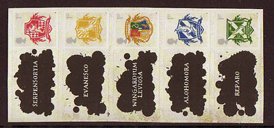 Great Britain 2007 Harry Potter Self Adhesive Set Of 5 Unmounted Mint, Mnh