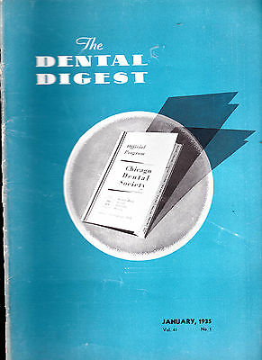 The Dental Digest Lot of 10 issues 1935 Fourth Molar Anomaly Root Canal Therapy