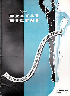 1936 The Dental Digest - 10 issues-  Salivary Calculus, Soft Tissue Management