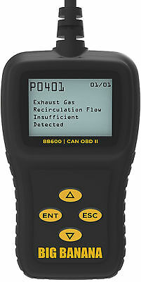 Diagnostic OBDII CAN Auto Scanner Pro Scan Tool OBD2 Fault Codes Live Data BB600