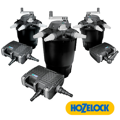 Complete Hozelock Bioforce Fish Pond Filter With Uvc And Aquaforce Pump System