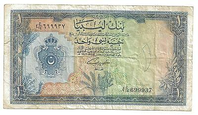 Libya 1 Pound P25 1963 Bank Of Libya  Middle East Arabic Africa Note