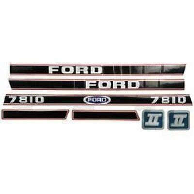 New Ford 7810 Red/Black Hood Decal Set