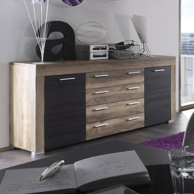 kommode bellevue highboard sideboard aktenschrank schlammeiche moderne anrichte eur 257 00. Black Bedroom Furniture Sets. Home Design Ideas
