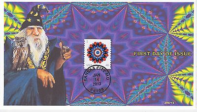 Jvc Cachets - 2013 Kaleidoscope Flower Issue First Day Cover Fdc Topical L.e. #1