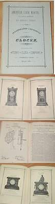 CLOCKS CATALOGUE Terry Clock Luminous Bronze Escort UHREN UHR BUCH 1885 RAR !!!