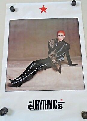 "Eurythmics  Annie Lennox #109 / Orig. Vint. Poster ""1984""  Exc new cond./ 21x32"""