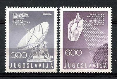 Yugoslavia 1974 SG#1612-3 Satellite Communications MNH Set #A32933