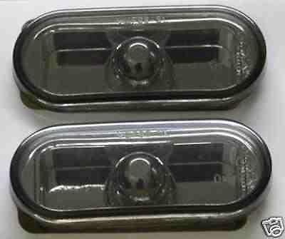 VW Golf Mk4 98-04 Black Smoked Mirror Side Repeaters 1 Pair inc bulbs