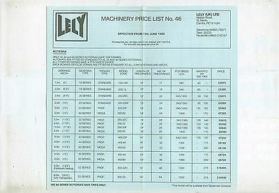 1988 (June) Lely Machinery Price List No. 46