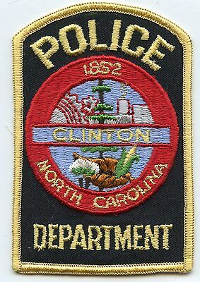 old vintage CLINTON NORTH CAROLINA NC POLICE PATCH