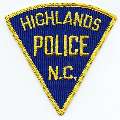 old vintage HIGHLANDS NORTH CAROLINA NC POLICE PATCH