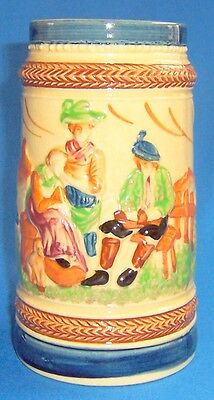 "6 1/2"" TALL MADE IN JAPAN Ceramic STEIN MUG TANKARD Vintage Item in Great Shape"