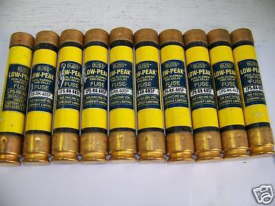 Nice Lot Bussmann LPS-RK-60SP 60 Amp Fuses Low Peak 600 Volts