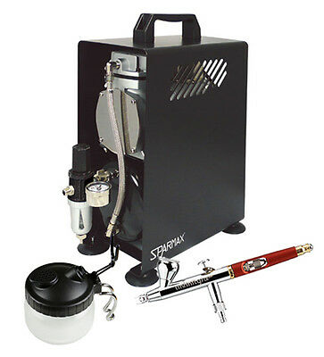 Professional Airbrushing Kit  Infinity CRplus Airbrush & Sparmax 610H Compressor