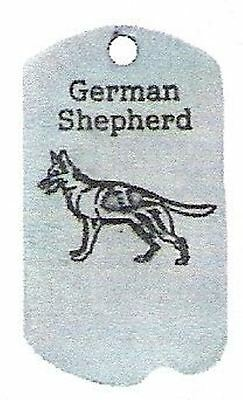 1 German Shepherd Zipper Pull - Pewter  Dog Tag