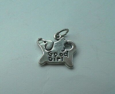 Good Girl Charm - Angel Dog - Sterling Silver