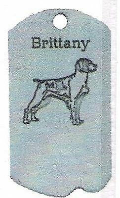 1 Brittany  Zipper Pull - Pewter  Dog Tag