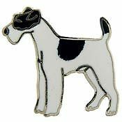 Fox Terrier dog breed LAPEL PIN