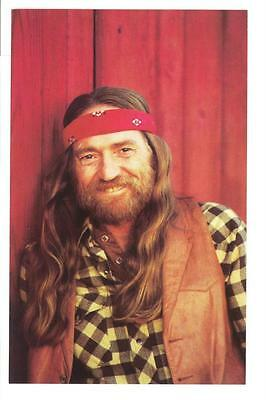 Willie Nelson 1981 Full Color Postcard Vintage Mint Condition