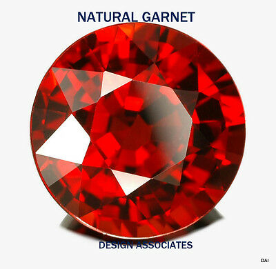 Natural Red Garnet 2 Mm Round 50 Piece Set $9.99