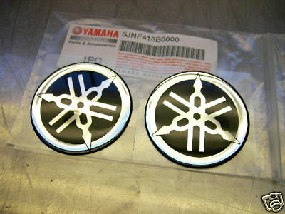 2x TANK EMBLEM AUFKLEBER EPOXY STICKER EMBLEMS CHROM/CHROME 36MM XT 600 XT 550
