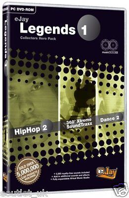 eJay Legends 1 Collectors Hero Pack HipHop Music Software For PC (DVD-ROM) NEW