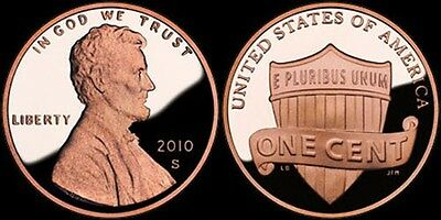 2010 S Lincoln Shield Proof Cent Red Ultra Cameo Gem US Coin Penny .01