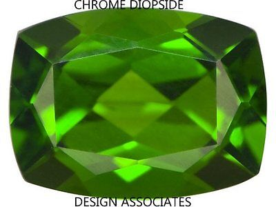 Chrome Diopside 8X6 Mm Emerald Cushion Cut Radiant Russian Green