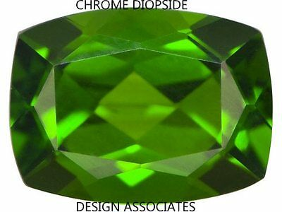 Chrome Diopside 9X7 Mm Emerald Cushion Cut Radiant Russian Green
