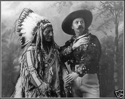 Photo: Sitting Bull & Buffalo Bill Cody, Montreal, 1885