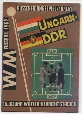 10.09.1961 East Germany - Hungary in Berlin, World Cup Qualifying
