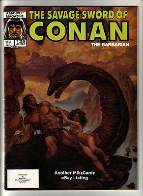 SAVAGE SWORD of CONAN #125 (June 1986) VG-EX CONDITION Comic Book - Magazine