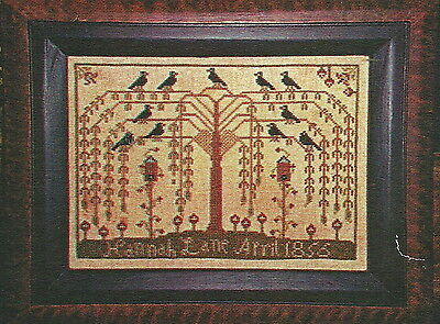 """Carriage House Samplings """"The Willow Tree Sampler"""" Pattern"""