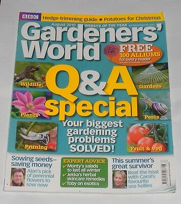 Gardeners' World August 2010 - Q & A Special/perennials From Seed/eryngiums