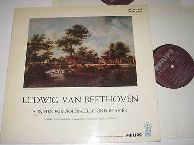 2 LP/BEETHOVEN/RICHTER/ROSTROPOWITSCH/SONATEN FÜR KLAVIER/CELLO/Philips 9296