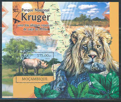 Mozambique Kruger National Park South Africa Souvenir Sheet