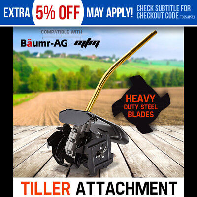 Baumr-AG Tiller Pole Attachment Rotary Hoe Cultivator Commercial Multi Extension