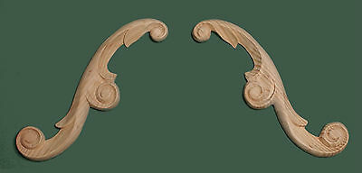 Decorative Hand Carved Pine  Wooden ARCHED ARABESQUE, pair (599)