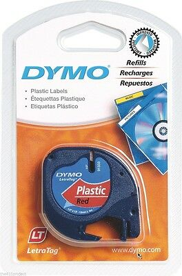 Dymo 91333 LetraTag Cosmic RED Refill Labels for Letra Tag XR PLUS LT & QX50 NEW