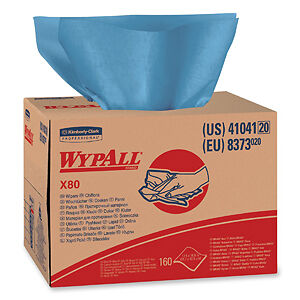 ShopPro Cloth Towels WypAll X80 Blue KC Professional