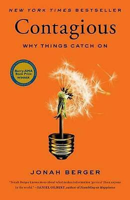 Contagious: Why Things Catch on by Jonah Berger (English) Hardcover Book Free Sh