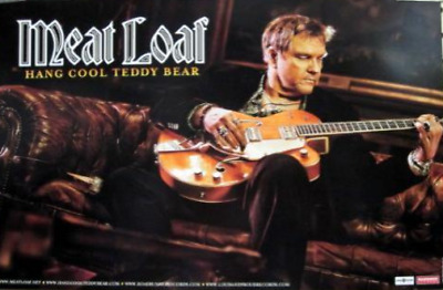 MEAT LOAF 2010 2 sided hang cool promo poster ~NEW old stock & MINT cond.~!!