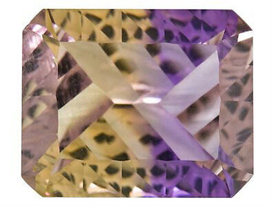 IF ~ 4.13 CT ~ Ametrine Purple & Yellow ~ Octagon ~ CONCAVE CUT Natural Gemstone