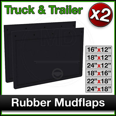 TRUCK Trailer Tipper Lorry Van RUBBER MUDFLAPS Mud Flap Guards PAIR