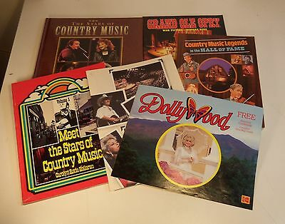 Lot 6 COUNTRY MUSIC DollyWood Dolly Parton GRAND OLE OPRY Johnny Cash BOOKS